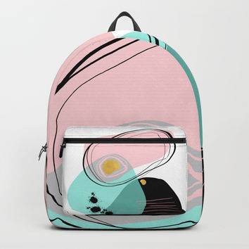 Modern minimal forms 9 Backpack by naturalcolors