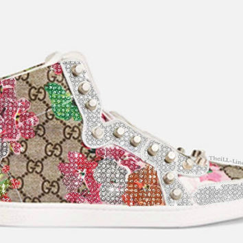 Studded Blooms Sneaker