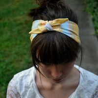 Colorful Striped Bow Headband
