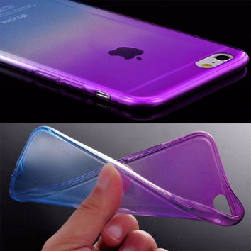 Ultra Thin Soft Silicone TPU Case for iPhone 6 Cover Clear Gradient Back Cover Phone Case for Apple iPhone 6 6S Accessories Capa