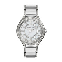 Michael Kors Kerry Stainless Steel Ladies Crystal Watch with Crystal Bracelet