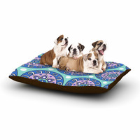 "Sarah Oelerich ""Mandala Dot"" Blue Aqua Dog Bed"
