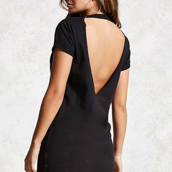 Open-Back T-Shirt Dress