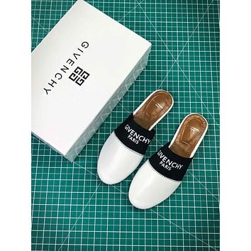 Givenchy Paris Logo White Sandals