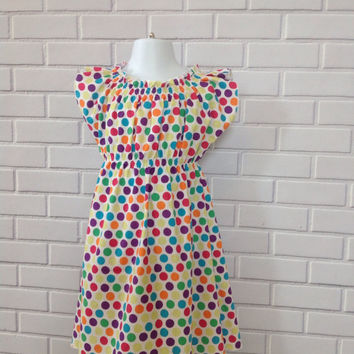Girls Boho Polka Dot Dress Boutique Clothing By Lucky Lizzy's