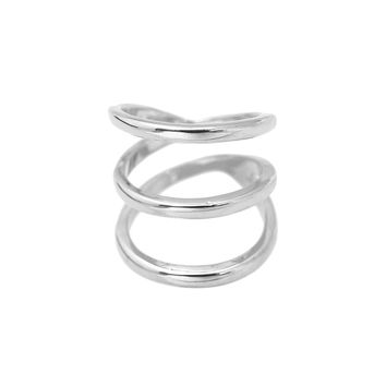 High Gloss Wrap Around Open Spiral Ring