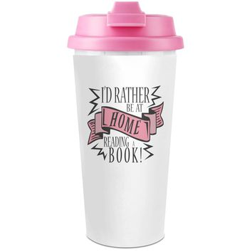 Reading A Book Plastic Travel Coffee Cup - 450 ml - Enjoy Your Drinks Everywhere