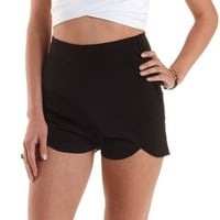 Black High-Waisted Tulip Shorts by Charlotte Russe
