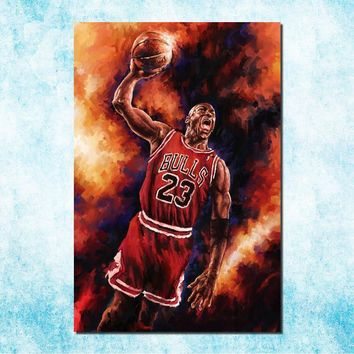 Michael Jordan Shoes MJ 23 Chicago Bulls NBA MVP Basketball Silk Canvas Poster 13x20in