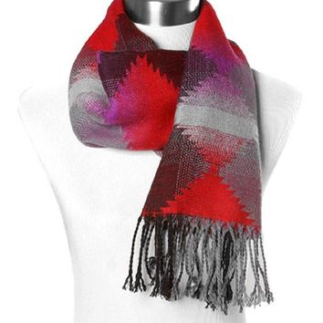 Black and Red Navajo Scarf
