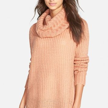 Junior Women's Dreamers by Debut Cowl Neck Sweater,