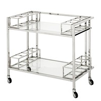 Stainless Steel Bar Cart | Eichholtz Le Pomerol