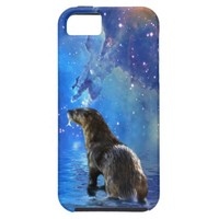 Funny River Otter and Space Nebulae Astronomy Pun