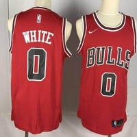 Nike Chicago Bulls #0 Coby White Swingman Basketball Jerseys Red