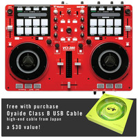 Vestax: VCI-380 USB MIDI Controller (Serato DJ, Serato Itch) - Limited Edtion Red  + Free Oyaide USB Cable - Red