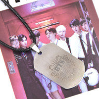 Korean Pop Kpop Boy Band BTS Bangtan Boys Titanium Steel Necklace Jewelry Pendant JUNG KOOK JIMIN V SUGA JHOPE