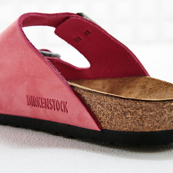 Birkenstock Arizona Nubuck Leather Sandals in Pink - Urban Outfitters