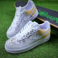 2018 Nike Air Force 1 Low Premium 100th White Sport Shoes Sneaker - Best Online Sale