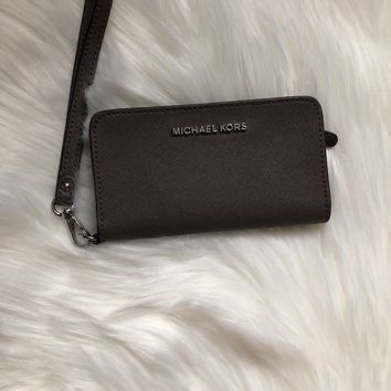 MICHAEL KORS PVC OR SAFFIANO LEATHER CONTINENTAL WALLET