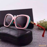 Original Chanel Fashion Polarized Flash Lenses Women Sunglasses Pearl Version 5354 - 2