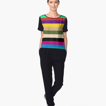 """Striped"" Women's Chiffon Top by valezar 