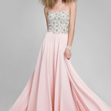 Terani Couture - Stunning Beaded Sweetheart Polyester A-line Dress 1712P2452