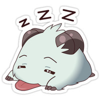 'Poro Sleeping' Sticker by karuja