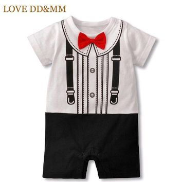 LOVE DD&MM Baby Boys Clothes New Summer Fashion Baby Jumpsuits Short-sleeved Gentleman Tie Bow Rompers Toddler Clothes
