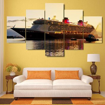 Fashion Canvas Painting Wall Art Prints Home Decoration Landscape Pictures 5 Panels For Living Room UnFrame or Framed