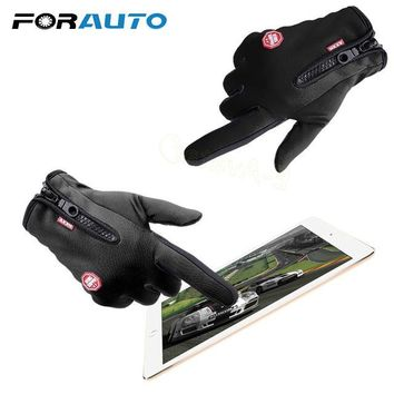 MOTO WEAR GLOVES warm riding Motorcycle Touch Screen Full Finger