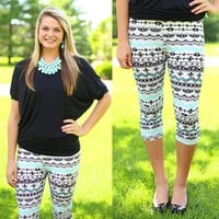 French Connection Capri Patterned Leggings