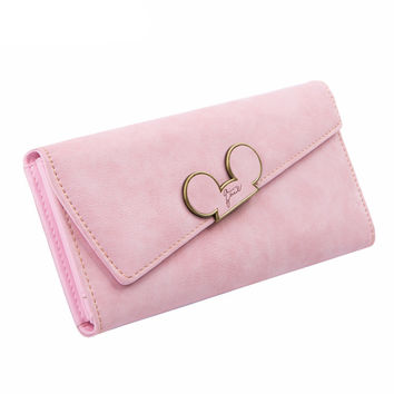 Candy Color Suede Disney Wallet
