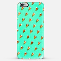 Cool and Trendy Pizza Pattern in Super Acid green / turquoise / blue iPhone 6 Plus case by Philipp Rietz | Casetify