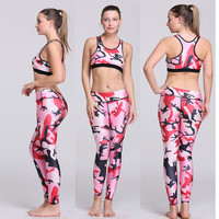 Print Crop Top Yoga Gym Set [6572814535]