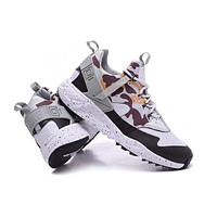 """Nike Air Huarache Utility PRM"" Men Sport Casual Multicolor Camouflage Sneakers Running Shoes"