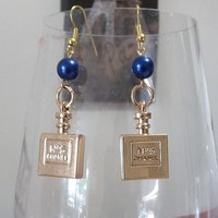 Cute #5 French Perfume Bottle Designer Earrings With Fish Hook Post