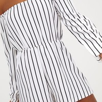Kennie White Stripe Playsuit