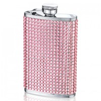 Bedazzled Pink Crystal Hip Flask