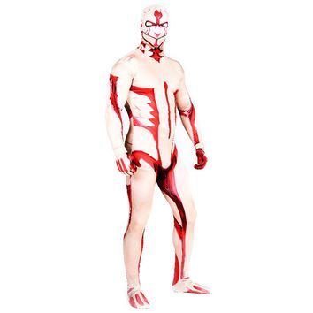 Cool Attack on Titan  Armored   Costumes Halloween 3D Printed bodysuit Zentai Suit Adult men's  Arthur Curry Jumpsuits Cosplay AT_90_11