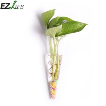 EZLIFE Irregular Wall Hanging Glass Planter Air Plant Terrarium Flower Pots Vase Garden Home Decoration