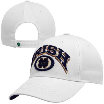 Top of the World Notre Dame Fighting Irish Felt Oval Snapback Hat - White