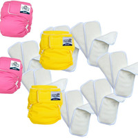 Softbums Omni Newborn Baby Cloth Diapers - Booster Pack