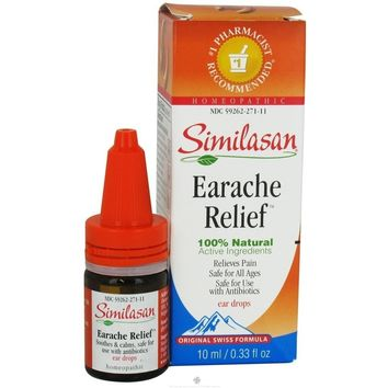 Similasan Ear Relief Ear Drops, 0.33 Ounce Bottle