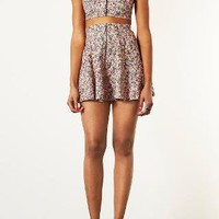 Ditsy Floral Button Bralet and Mini Skirt - Topshop USA
