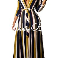 Stripe Maxi Dress | Nikki Bella Online Boutique| Habit