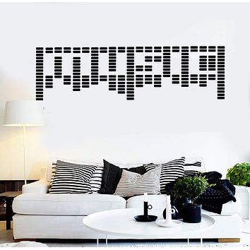 Vinyl Wall Decal Music Art Word Musical Room Decor Stickers Murals Unique Gift (ig4684)