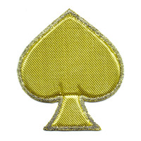 Gold Spade Poker Puffy Patch