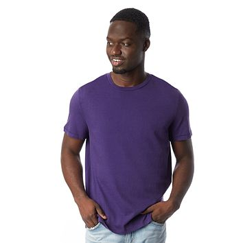 Alternative Apparel - The Outsider Heavy Wash Jersey Deep Violet T-shirt