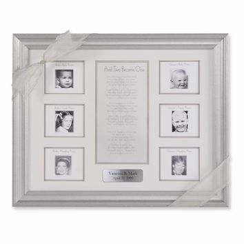And Two Became One 6 - Photo Wedding Frame - Engravable Personalized Gift Item
