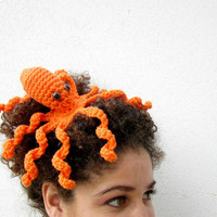 Octopeep Fascinator Hair Clip Tentacle Headpiece by Nerdifacts
